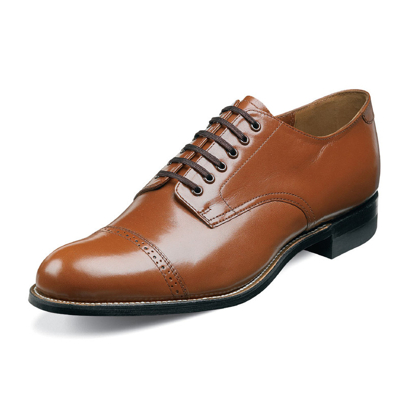 Stacy Adams Men's Madison Cap Toe Oxford - Oak - 00012-40 - Angle