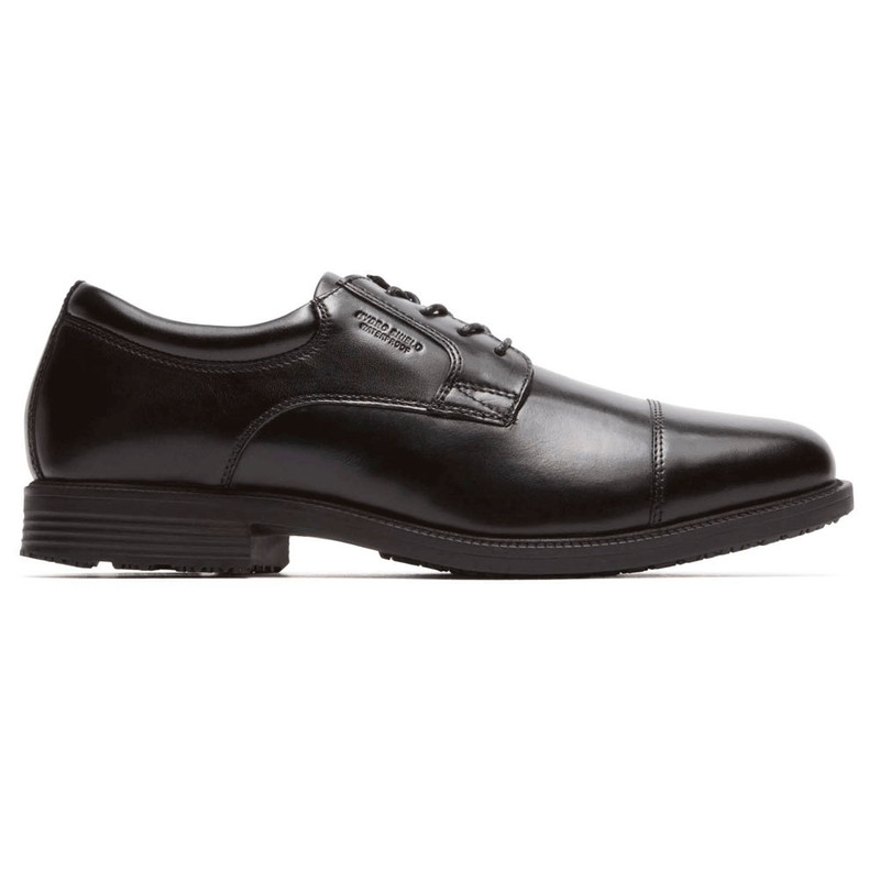 Rockport Men's Essential Details WP Cap Toe - Black - V73839 - Profile