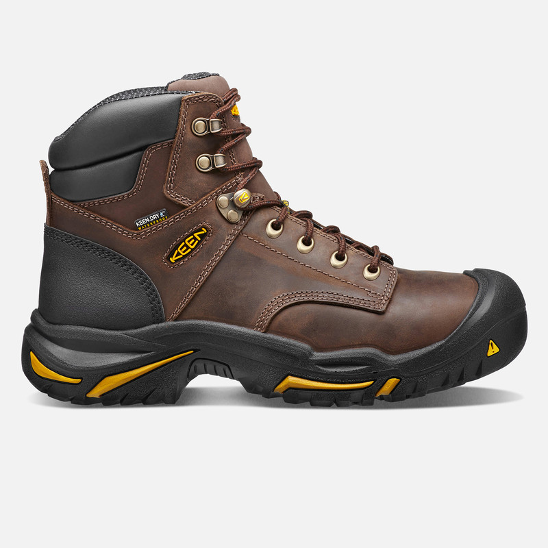 Keen Men's Mt Vernon 6 Inch Boot (Steel Toe) - Cascade Brown - 1013258 - Profile Image
