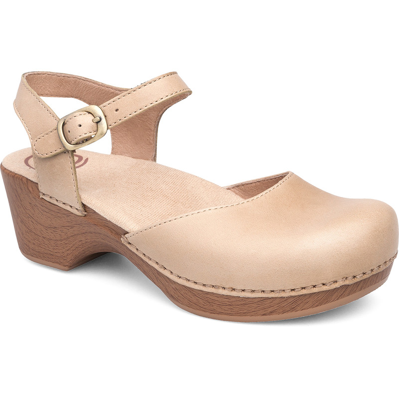 Dansko Women's Sam - Sand Dollar Full Grain Leather - 9840-372200 - Angle