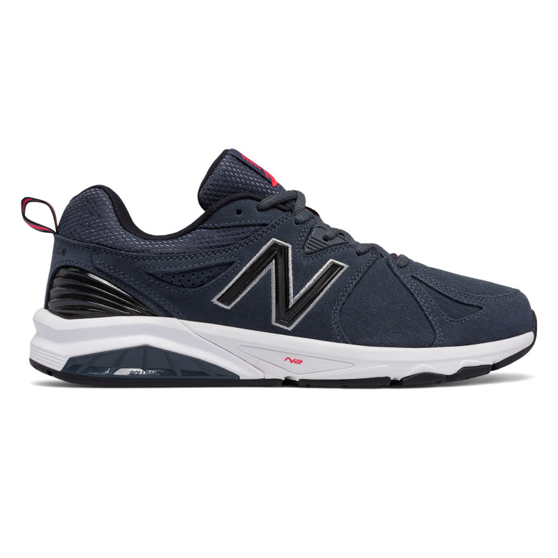 New Balance 857v2 Men's Cross-Training - Charcoal Blue Suede - MX857CH2 - Profile