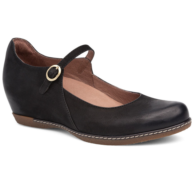 Dansko Women's Loralie - Black Burnished Nubuck - 6900-101200 - Angle