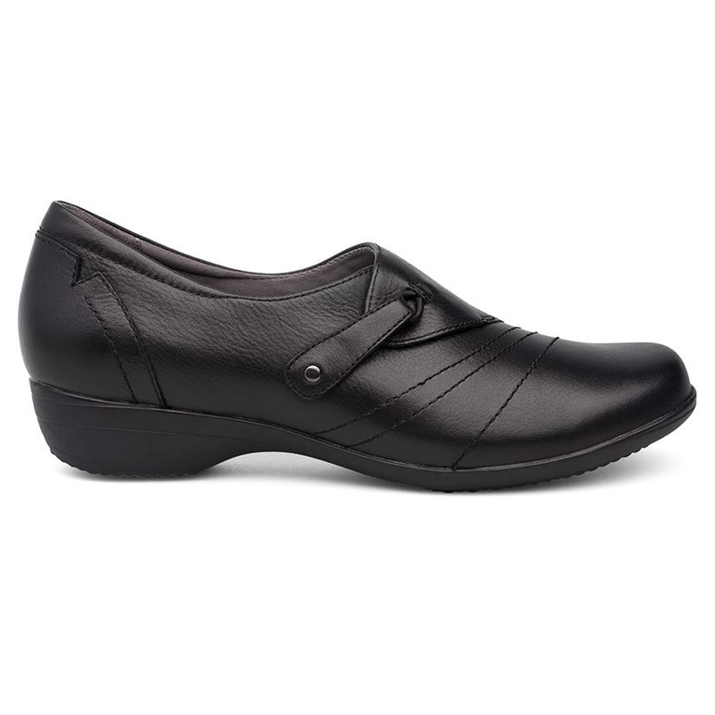 Dansko Women's Franny - Black Milled Napa - 5500-020200 - Profile