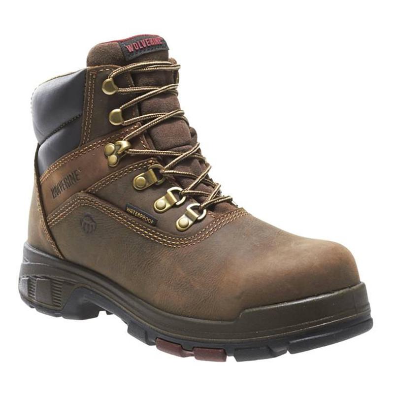 7073114993d Wolverine Men's Cabor EPX 6 Inch WP Work Boot - Dark Brown