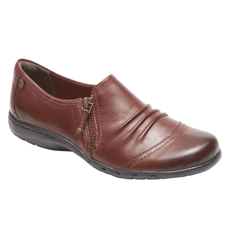 Rockport Cobb Hill Penfield Side Zip - Brick Leather - CG8630 - Angle