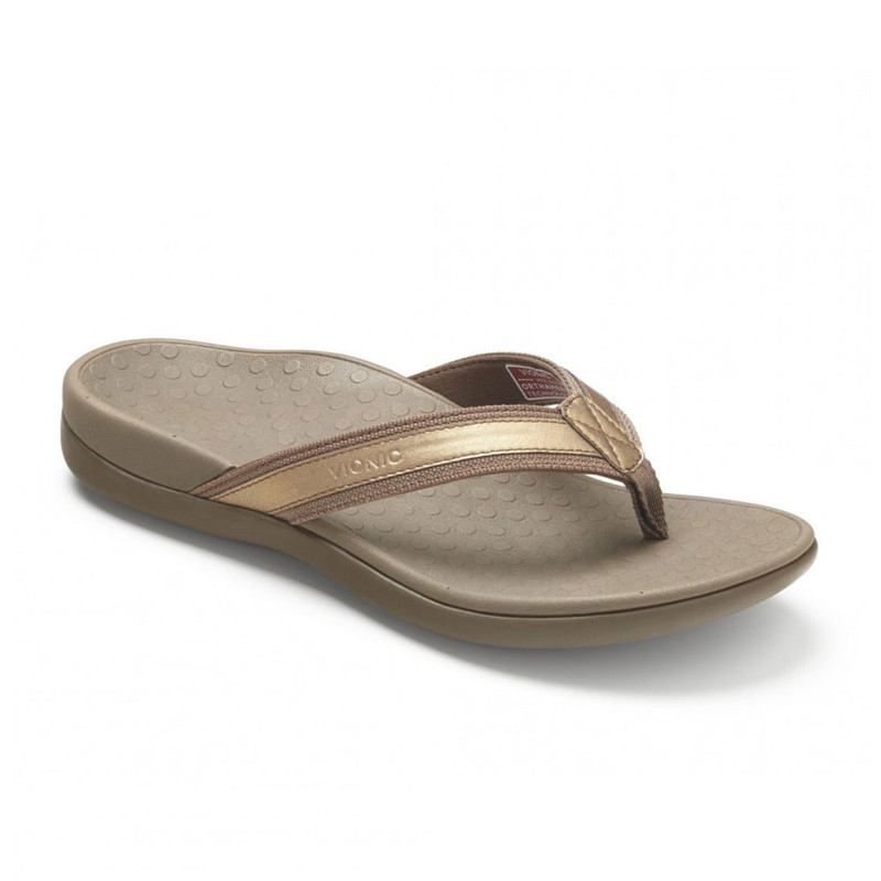 60585005f962 VIONIC Women s Tide II Toe Post Sandal - Bronze Metallic