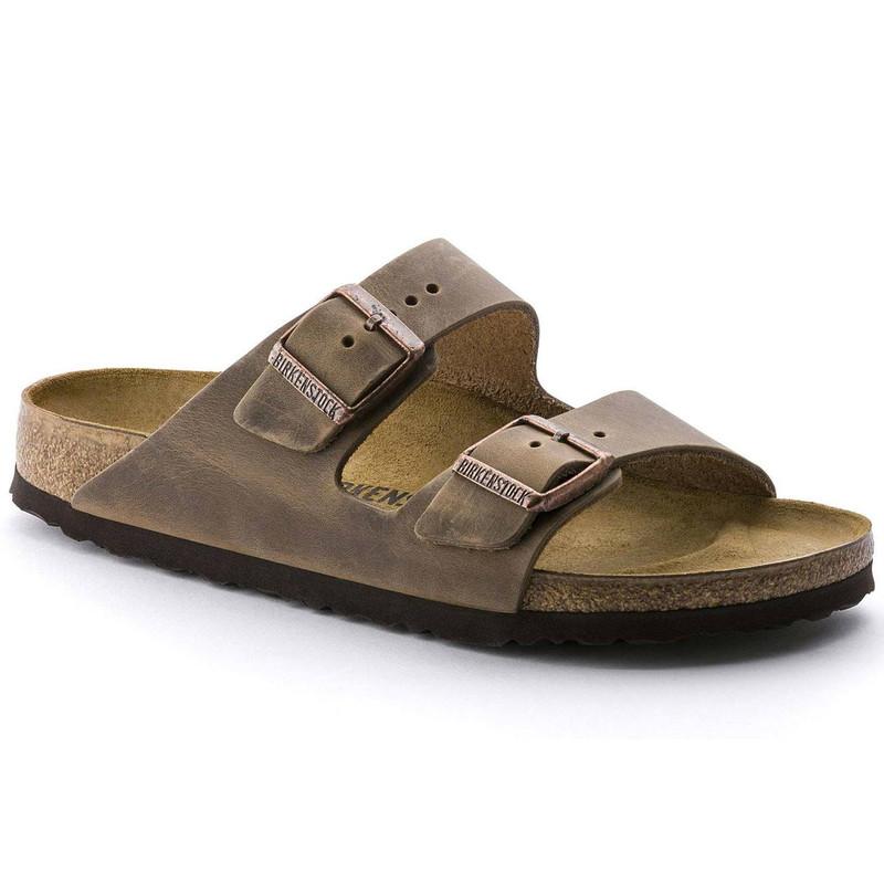 Birkenstock Arizona - Tobacco Brown Oiled Leather (Narrow Width) - 352203 - Main