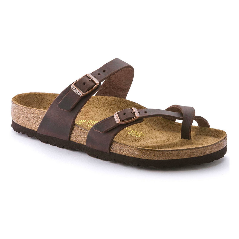 Birkenstock Women's Mayari - Habana Oiled Leather (Regular Width) - 171321 - Angle