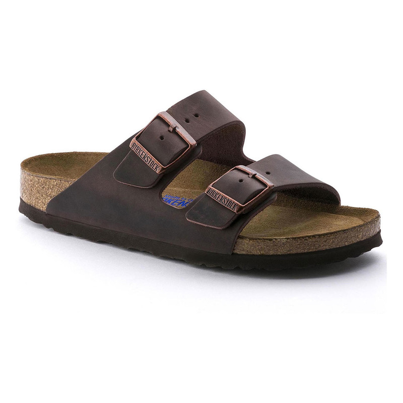 Birkenstock Arizona Soft Footbed - Habana Oiled Leather (Regular Width) - 452761 - Angle