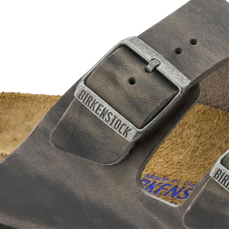 6fd1b5bdc5a ... Birkenstock Arizona Soft Footbed - Iron Oiled Leather (Regular Width) -  552801 - Close ...