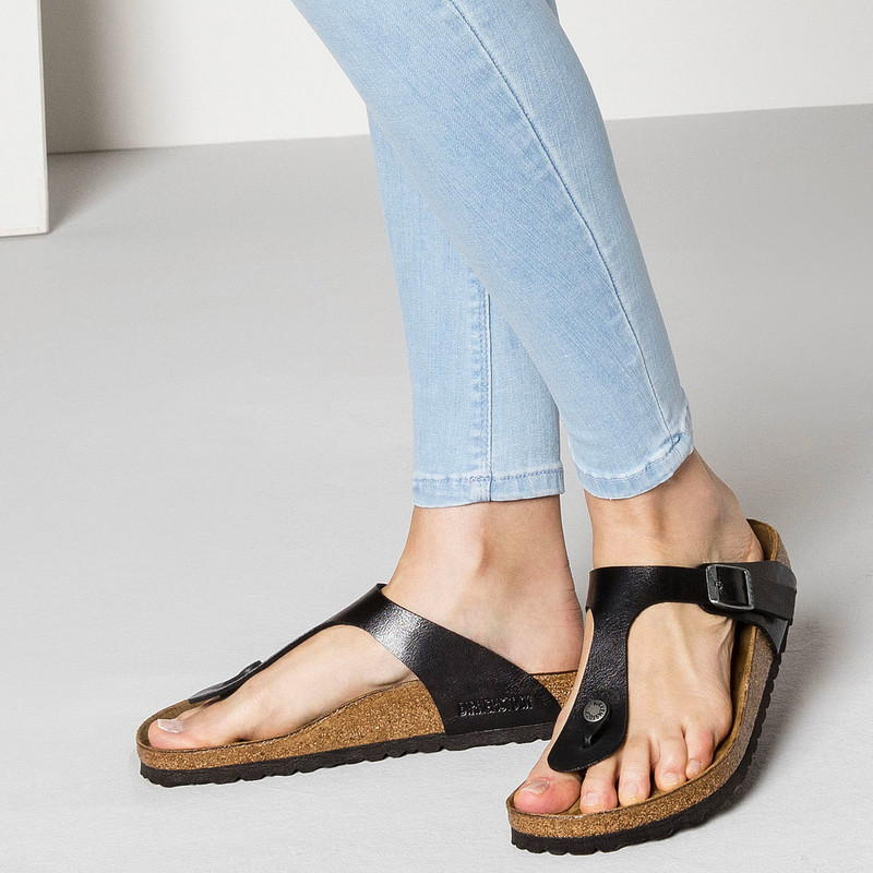 af8628d02950 ... Birkenstock Women s Gizeh - Graceful Licorice Birko-Flor (Regular  Width) - 541951 -