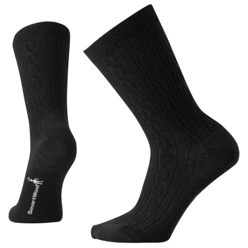 Smartwool Women's Cable II Sock - Black - SW0SW672001 - Hero