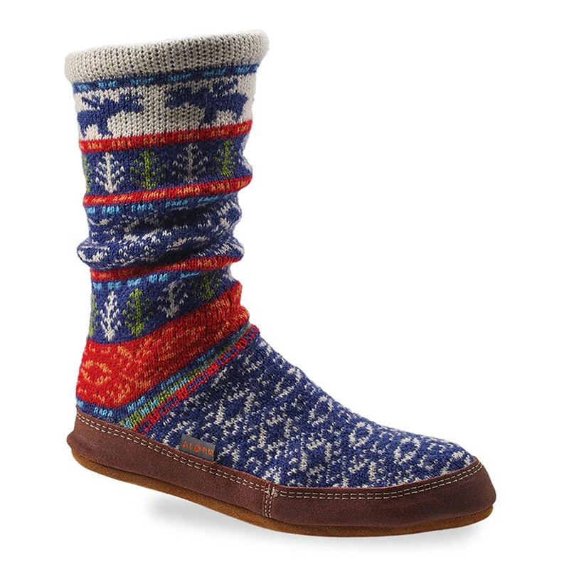 Acorn Unisex Slipper Socks - Maine Woods Jacquard (A10118/MWJ) - Profile