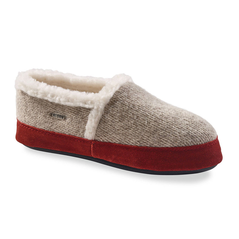 Acorn Women's Moc Ragg Slippers - Grey Ragg Wool (A10153/ACK) - Profile