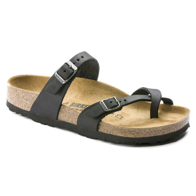 Birkenstock Women's Mayari - Black Oiled Leather (Regular Width) - 171481 - Main