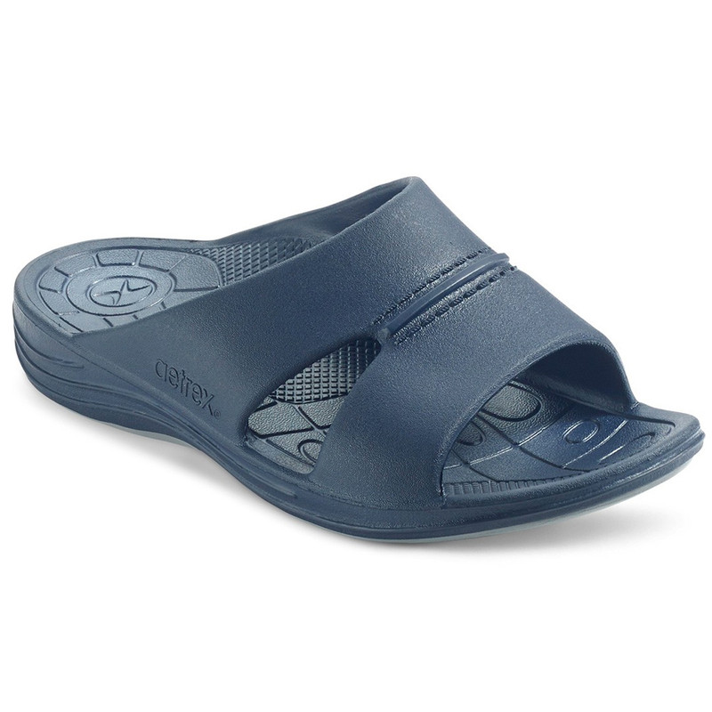 Aetrex Men's Bali Slides - Navy - L9002/NAVY - Main Image
