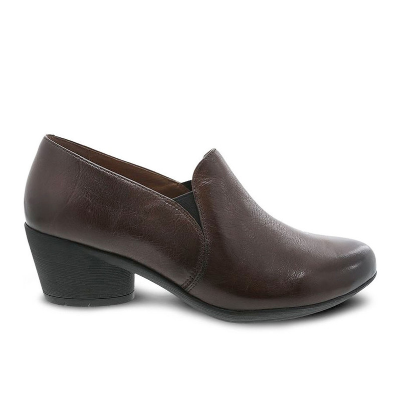Dansko Women's Robin - Chocolate Burnished Calf - 3812-230200 - Profile