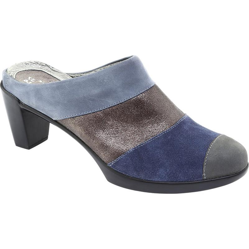 Naot Women's Fortuna Mule - Blue / Gray Combo Nubuck - 14041-PBB - Profile Image
