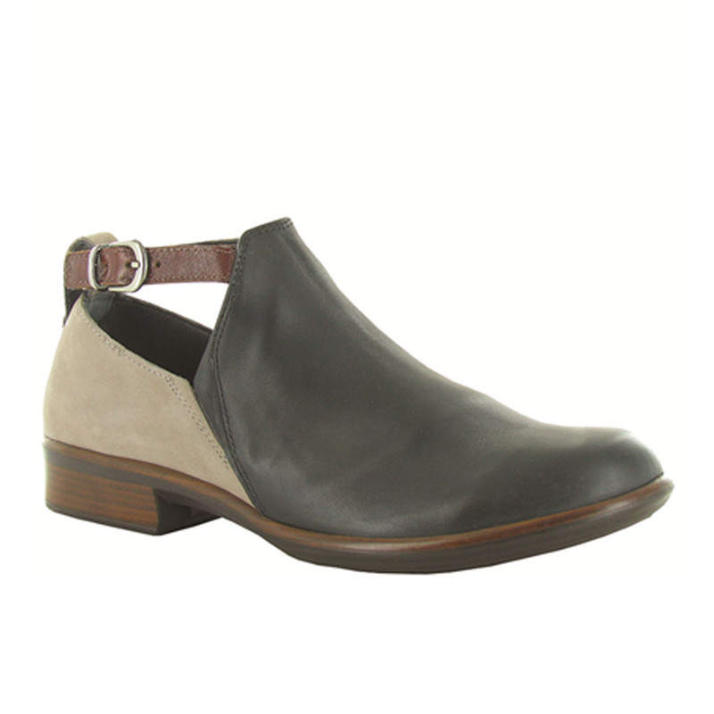 Naot Women's Kasmin Bootie - Jet Black Leather / Stone Nubuck / Luggage Leather - 26042-NKM - Profile