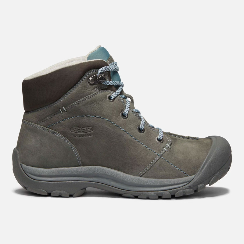 KEEN Women's Kaci Winter Waterproof Mid - Turbulence / Stormy Weather - 1019495 - Profile