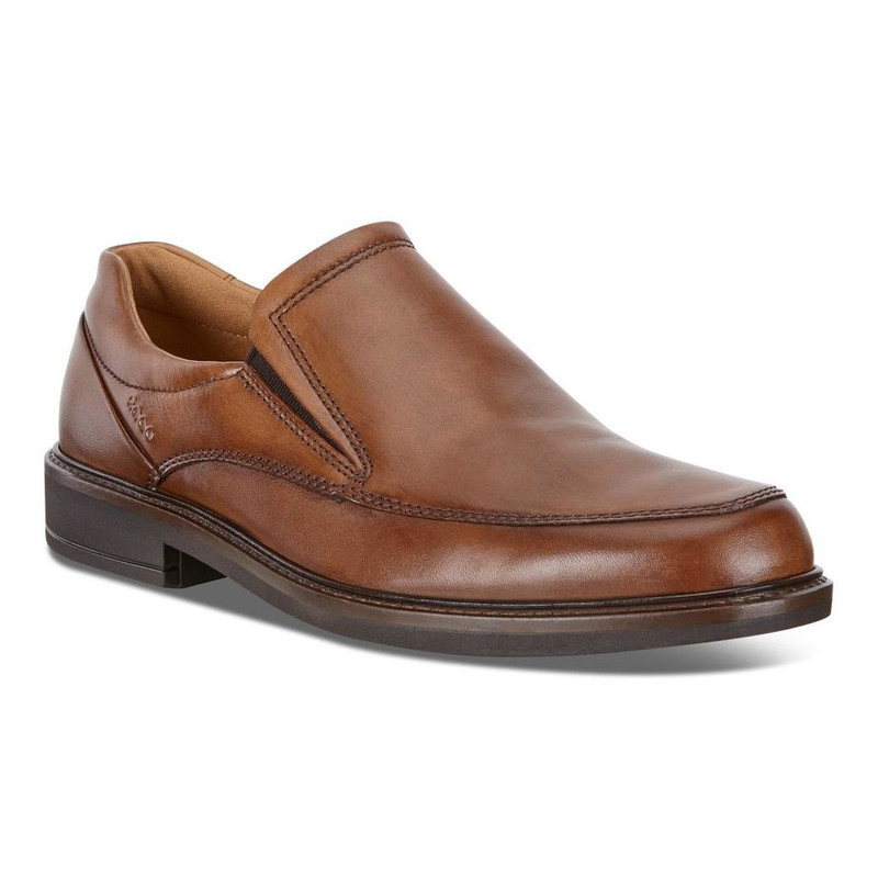ECCO Men's Holton Apron Toe Slip On - Amber - 621124-01112 - Main Image