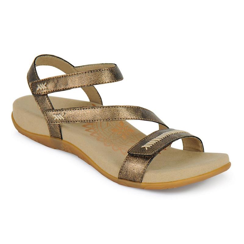 7e2107062602 Aetrex Women s Gabby Adjustable Quarter Strap - Bronze