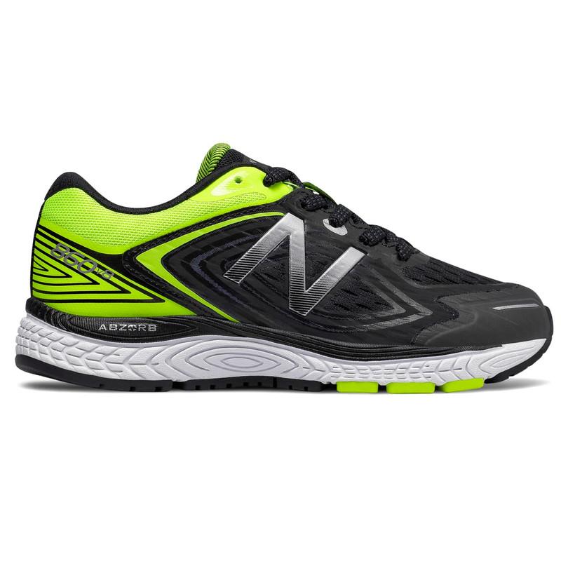526f2d0bb0576 New Balance 860v8 Grade School Running - Black / Hi-Lite