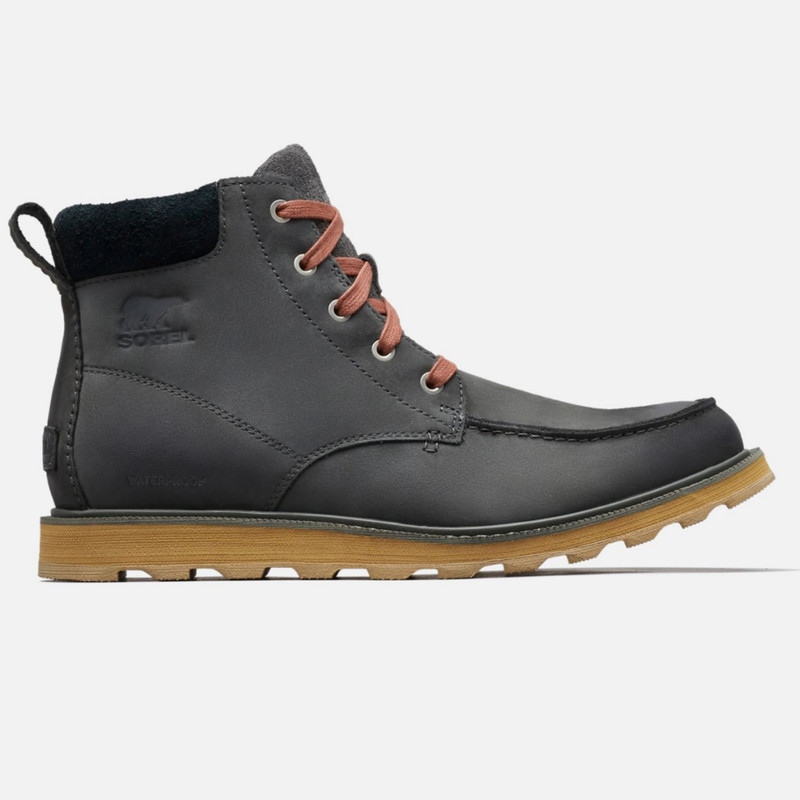 Sorel Madson™ Moc Toe WP Boot - Grill / Black - 1767231-028 - Profile