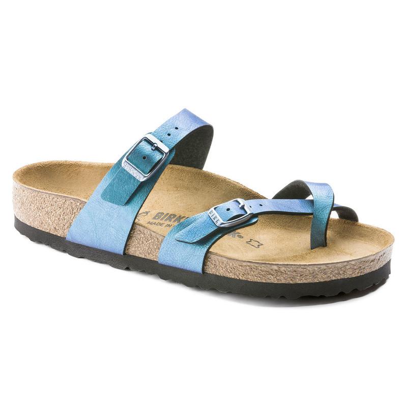 Birkenstock Women's Mayari - Graceful Gemm Blue Birko-Flor - 1010929 - Angle