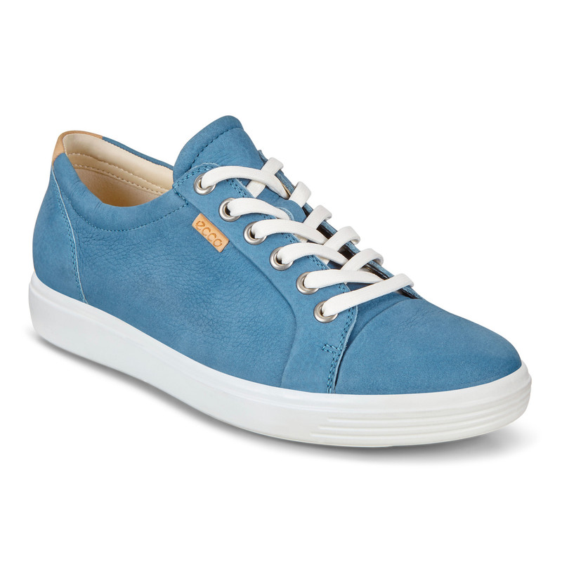 ECCO Women's Soft 7 Sneaker - Retro Blue - 430003-01471 - Angle