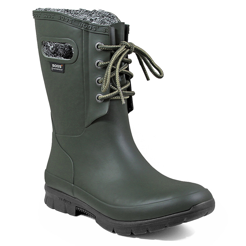 Bogs Women's Amanda Plush Boot - Dark Green - 72103-301 - Main Image