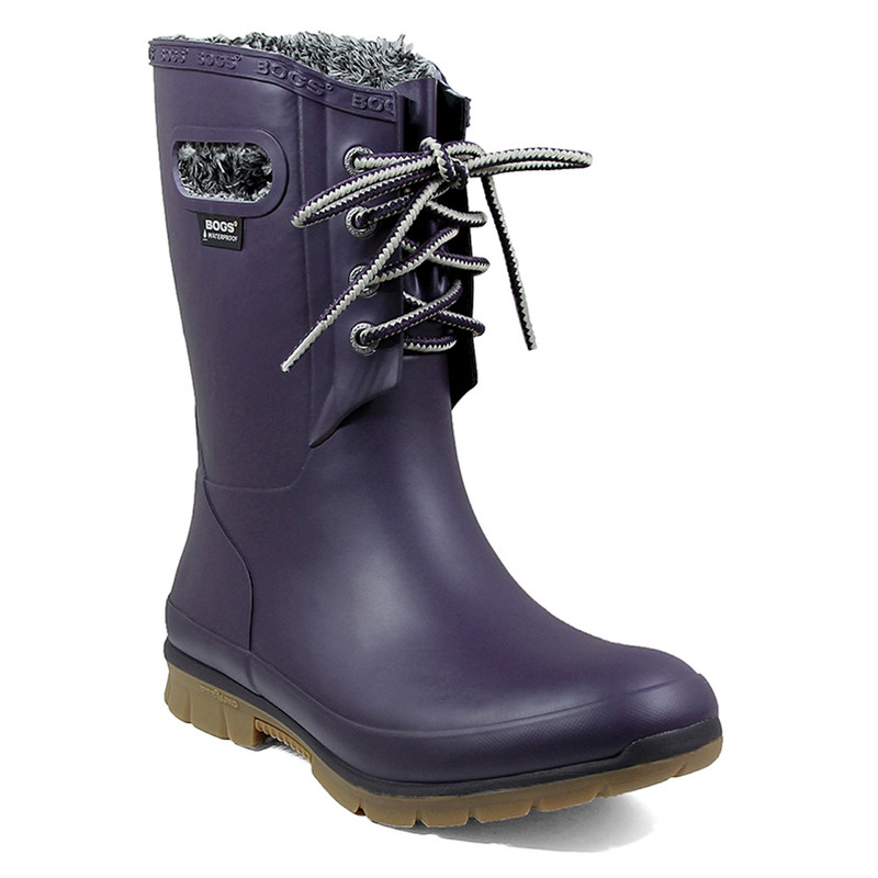 Bogs Women's Amanda Plush Boot - Eggplant - 72103-550 - main