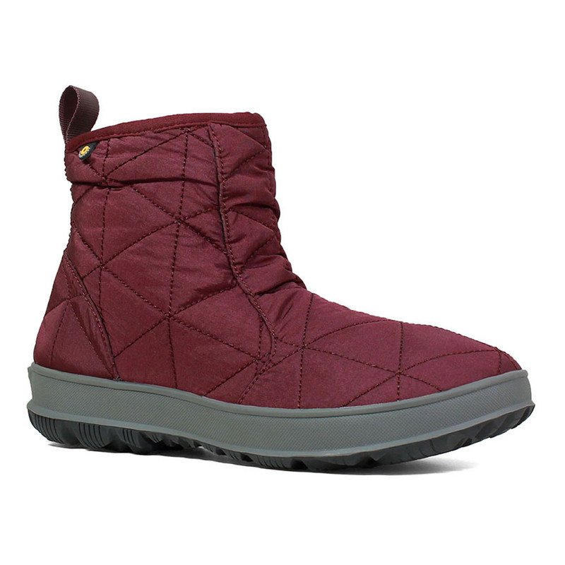 Bogs Women's Snowday Low - Wine - 72239-609 - Angle