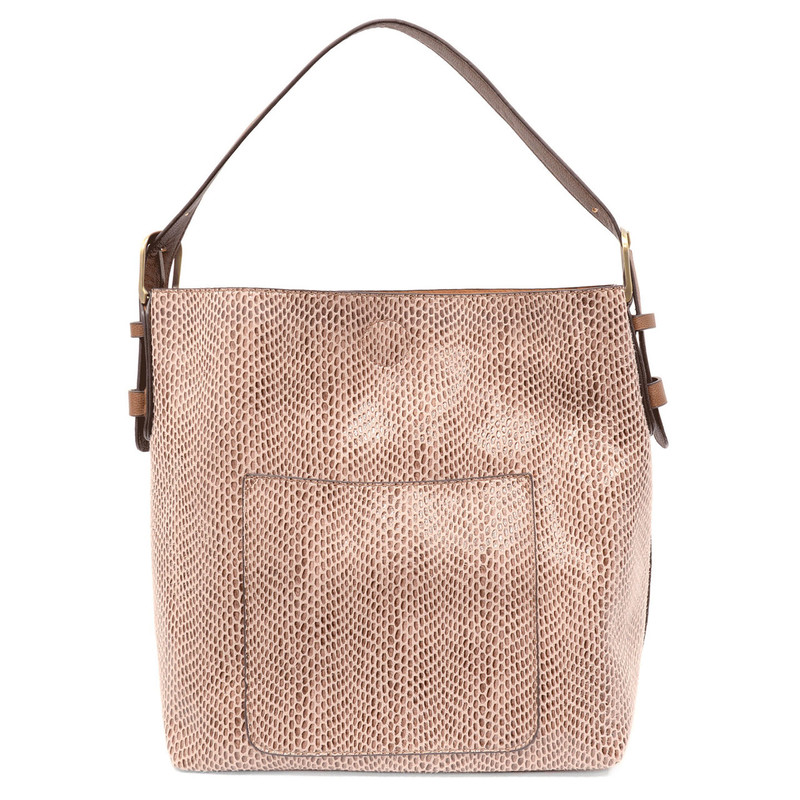 Joy Susan Python Sara Bucket Bag - Mauve - L8031-44 - Profile