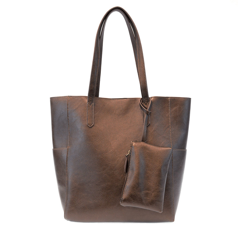 Joy Susan North South Bella Tote - Metallic Bronze - L8036-37 - Profile
