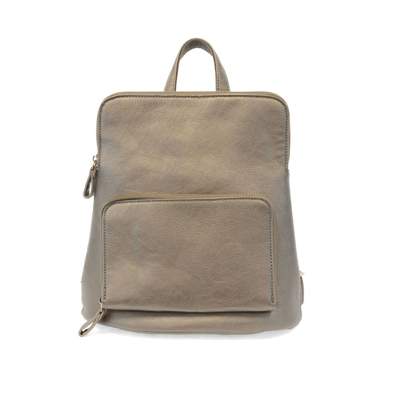 Joy Susan Julia Mini Backpack - Metallic Khaki - L8038-40 - Profile