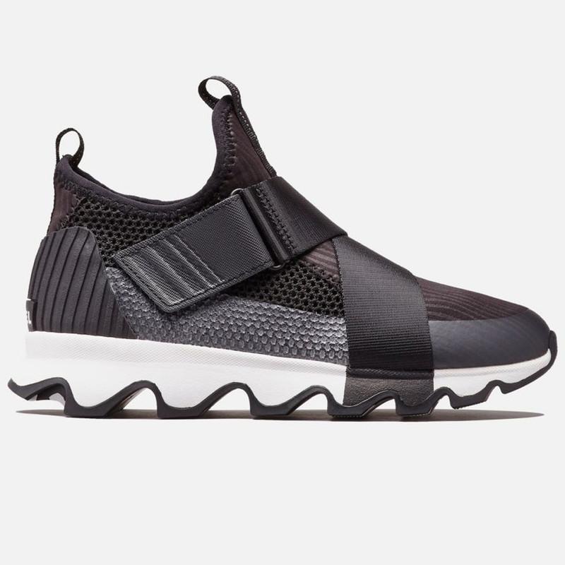 Sorel Women's Kinetic™ Sneaker - Black / White - 1776271-010 - Profile