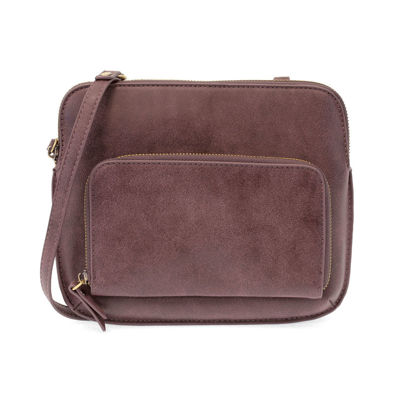 Joy Susan New Nicole Distressed Crossbody - Aubergine - L8029-43 - Profile