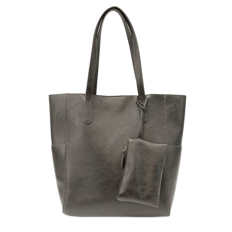 Joy Susan North South Bella Tote - Metallic Hematite - L8036-38 - Profile