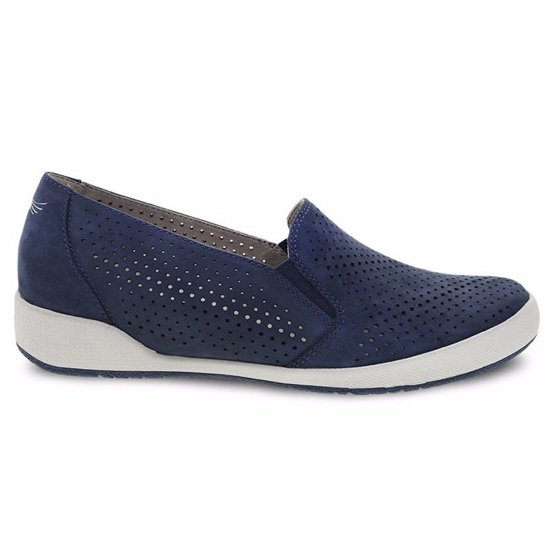 Dansko Women's Odina - Navy Milled Nubuck - 4712-757575 - Profile
