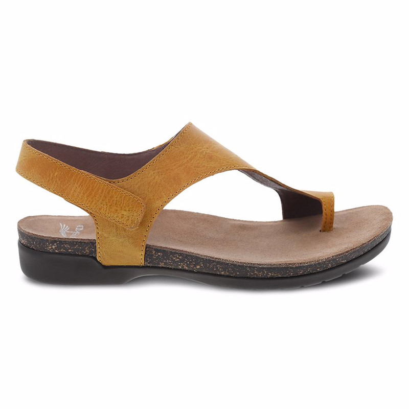 Dansko Women's Reece Sandal - Mango Waxy Burnished - 6024-465300 - Profile