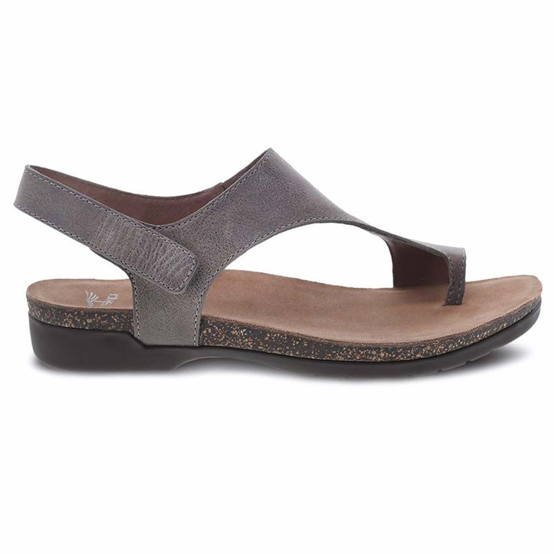 Dansko Women's Reece Sandal - Stone Waxy Burnished - 6024-795300 - Profile