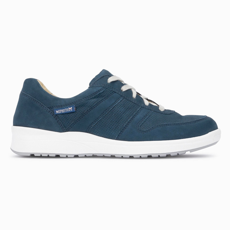 Mephisto Women's Rebeca Perf - Navy Bucksoft - REBECAPERF6945 - Profile