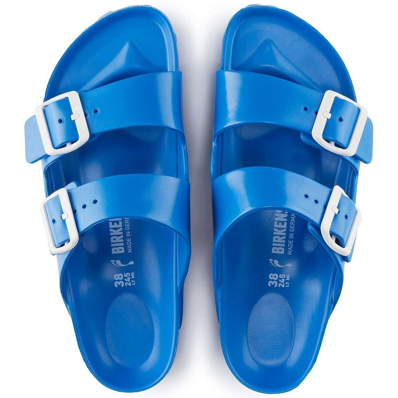 bd9e7690e229 ... Birkenstock Arizona Essentials EVA - Scuba Blue - Top View