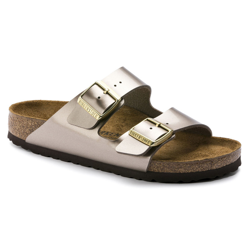 Birkenstock Arizona - Electric Metallic Taupe (Narrow Width) - 1012972 - Main