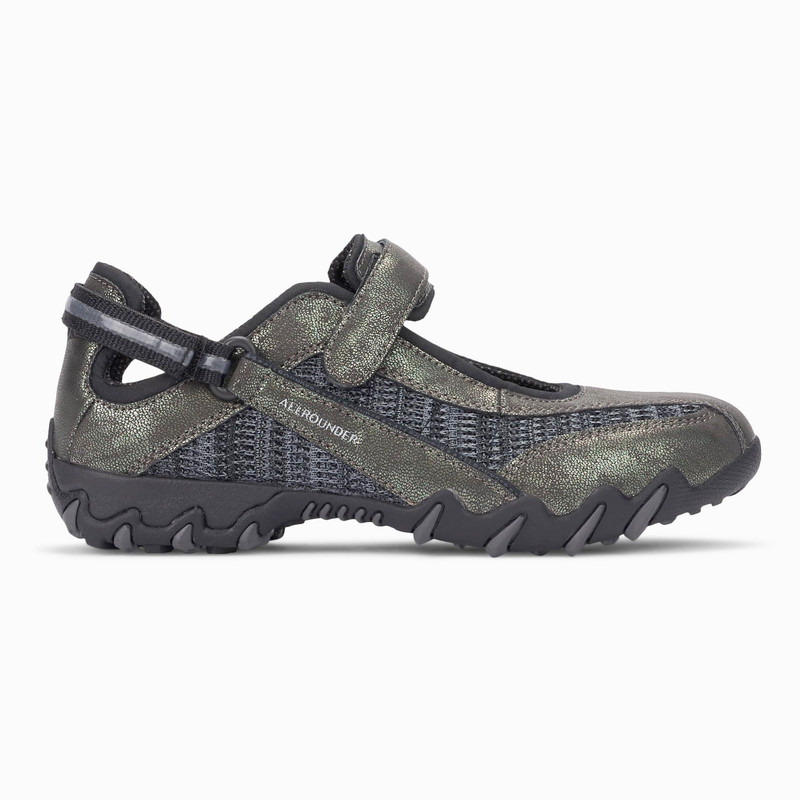Mephisto Allrounder Women's Niro - Graphite Metallic / Black Flyknite - NIRO59/52 - Profile