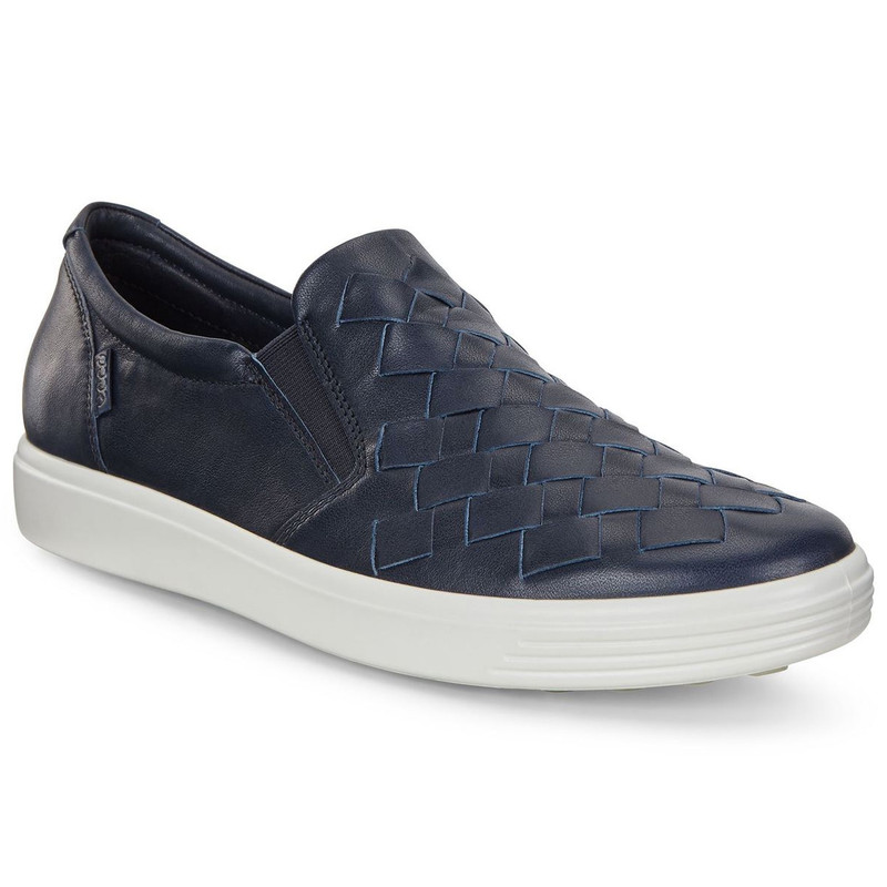ECCO Women's Soft 7 Woven - Navy - 430453-01303 - Main