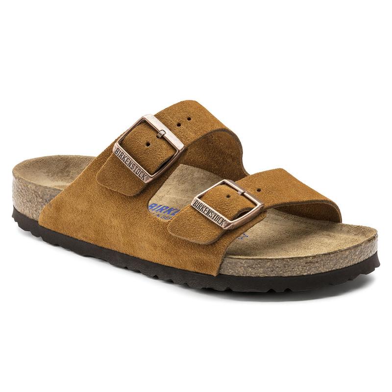 Birkenstock Arizona Soft Footbed - Mink Suede (Regular Width) (1009-526)