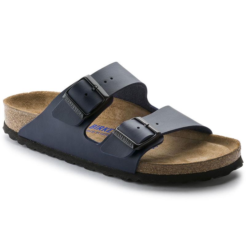 Birkenstock Arizona Soft Footbed - Blue Birko-Flor (Regular Width) - 51061 - Main