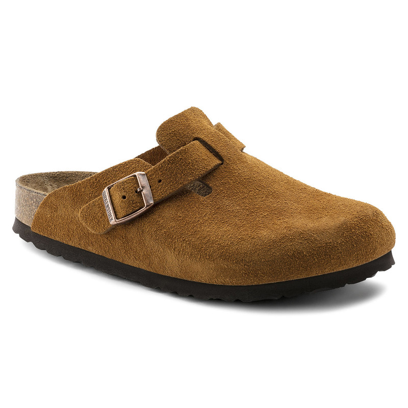 Birkenstock Boston Soft Footbed - Mink Suede (Regular Width) - 1009542 - Main Image